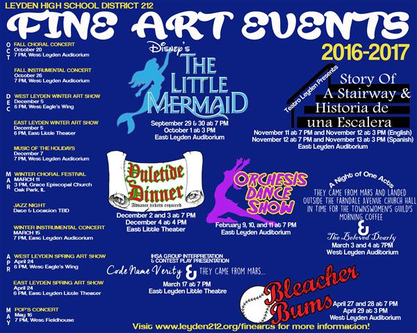 Leyden Fine Arts Events