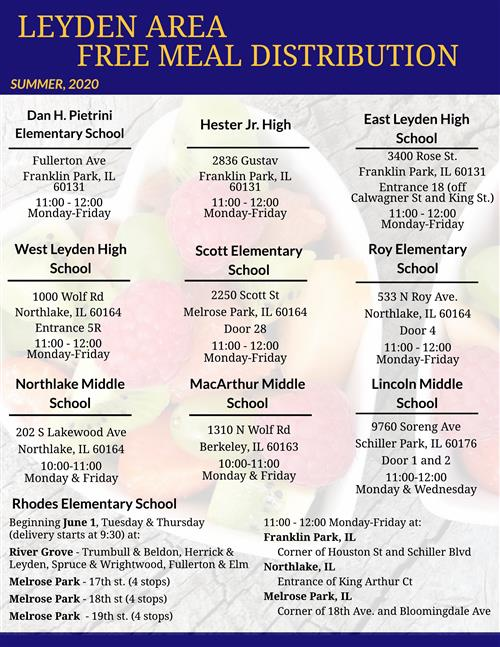 free meal distribution flyer