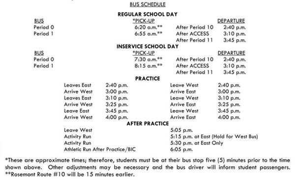 Leyden Bus Schedule